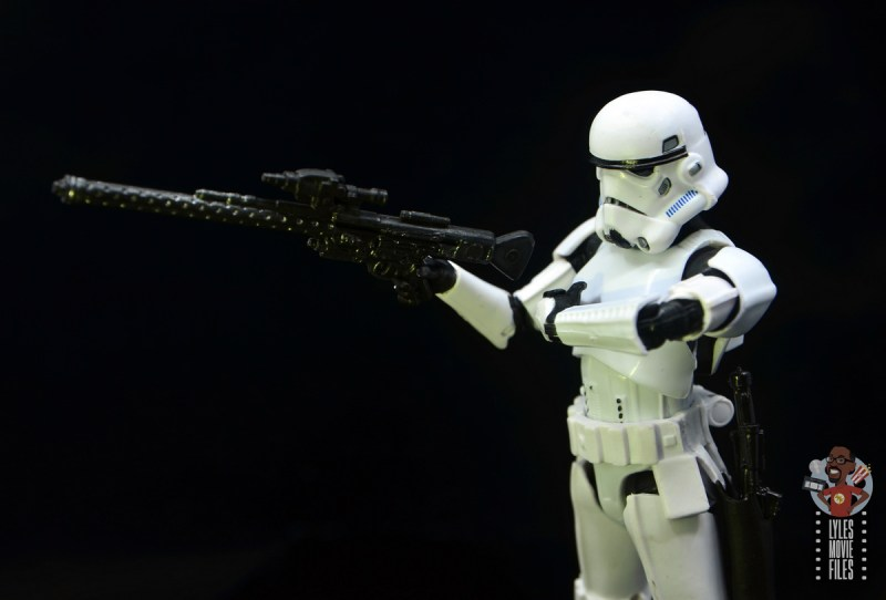 star wars the black series stormtrooper figure review - rifle detail