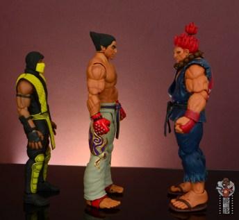 storm collectibles tekken 7 kazuya figure review - facing scorpion and akuma