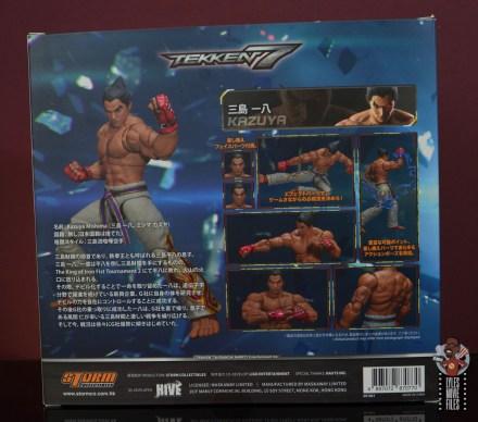storm collectibles tekken 7 kazuya figure review - package rear