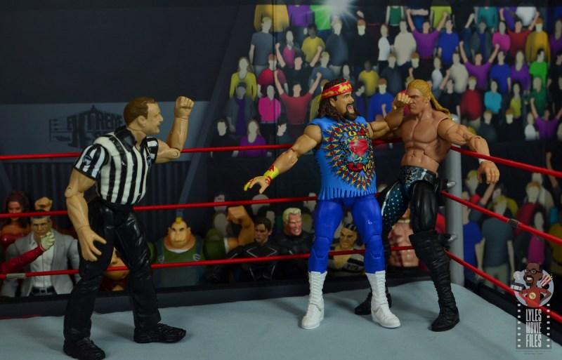 wwe elite #62 dude love figure review - elbow to triple h