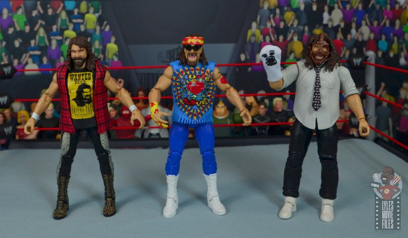 wwe elite #62 dude love figure review - three faces of foley