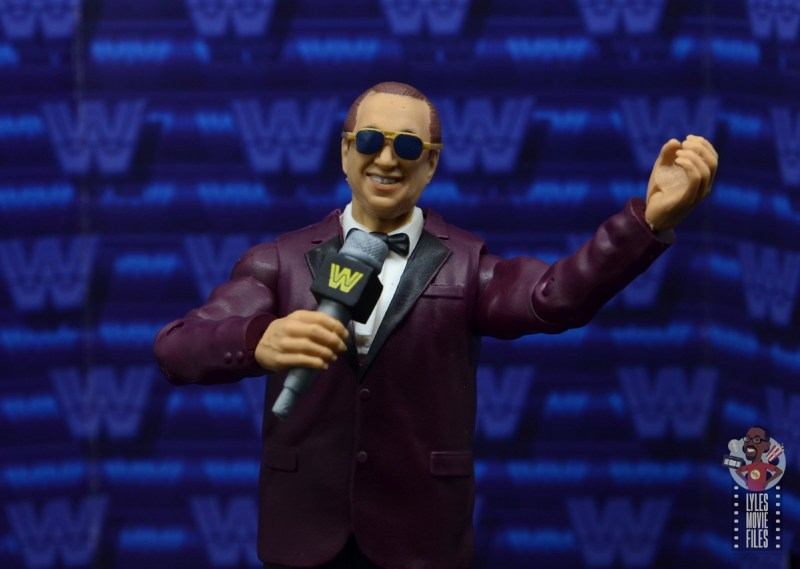 wwe elite 72 gorilla monsoon figure review - holding mic