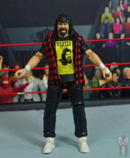 wwe wrestlemania 34 elite mick foley figure review - front