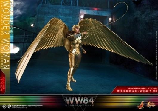 hot Toys Wonder Woman 1984 golden armor figure -standing