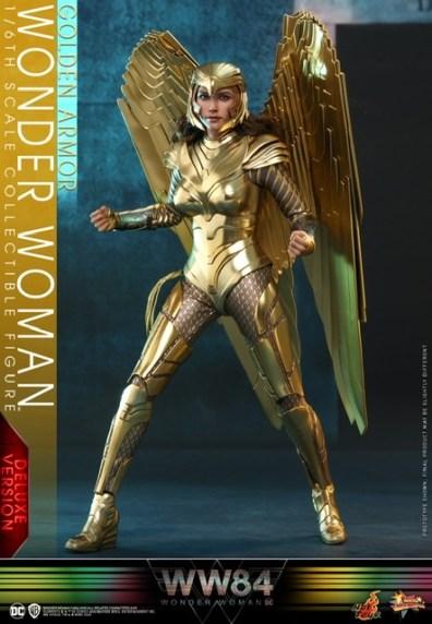 hot Toys Wonder Woman 1984 golden armor figure -wide stance