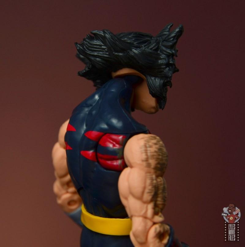 marvel legends age of apocalypse weapon x figure review - head socket rear