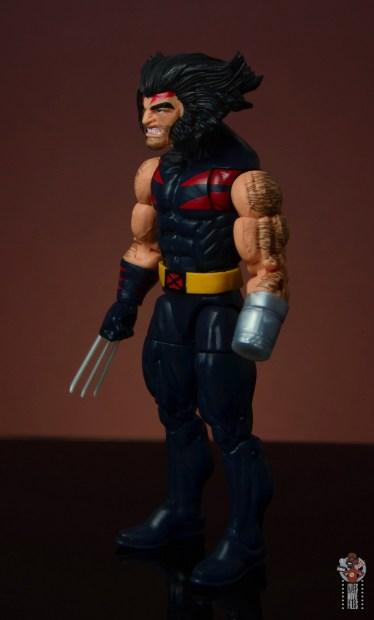marvel legends age of apocalypse weapon x figure review - left side