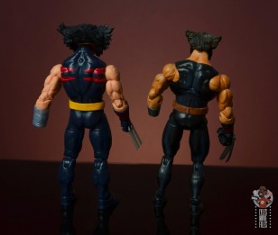 marvel legends age of apocalypse weapon x figure review - rear with toy biz weapon x