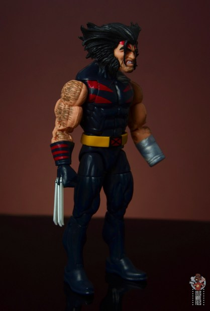 marvel legends age of apocalypse weapon x figure review - right side