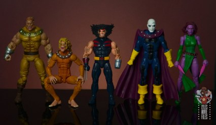 marvel legends age of apocalypse weapon x figure review - scale with toy biz sabretooth, wild child, morph and blink