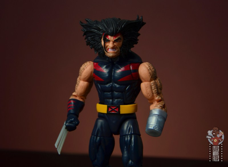 marvel legends age of apocalypse weapon x figure review - wide shot