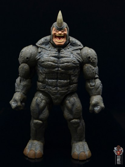 marvel legends build-a-figure rhino figure review - front