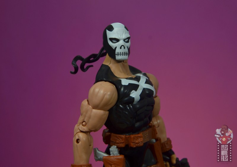 marvel legends crossbones figure review - headband