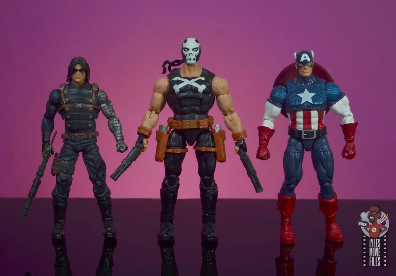 marvel legends crossbones figure review - scale with winter soldier and captain america