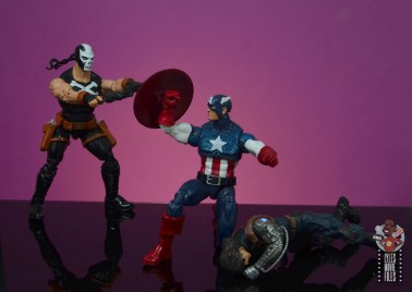 marvel legends crossbones figure review - shooting at captain america