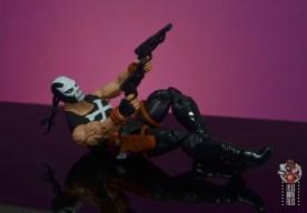 marvel legends crossbones figure review - shooting on back