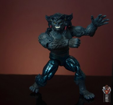 marvel legends dark beast figure review - arms to the side