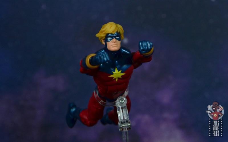 marvel legends mar-vell figure review - flying