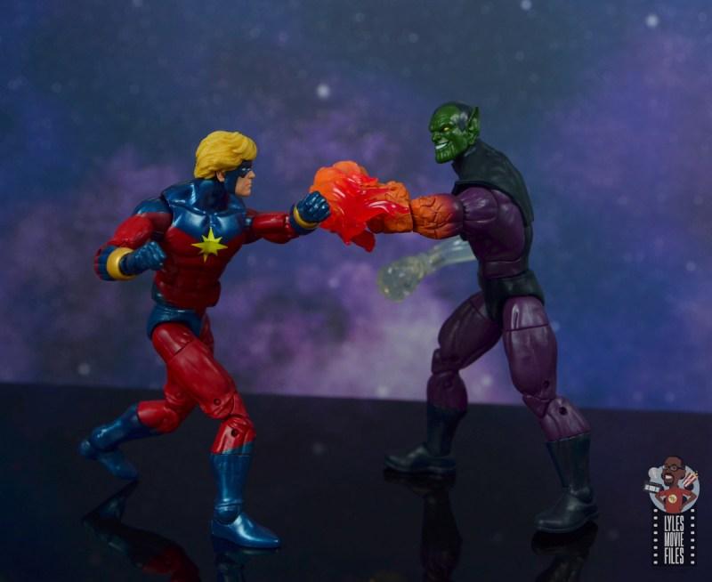 marvel legends mar-vell figure review - vs super skrull