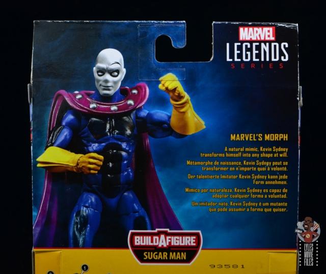 marvel legends morph figure review - package bio