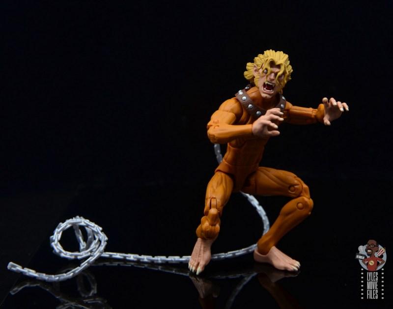 marvel legends wild child figure review - chain length
