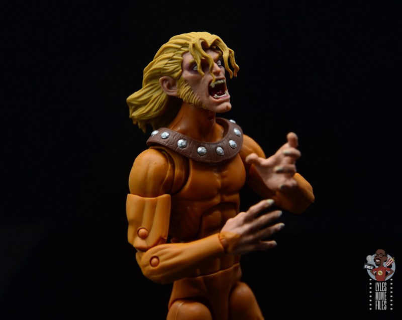 marvel legends wild child figure review - close up side