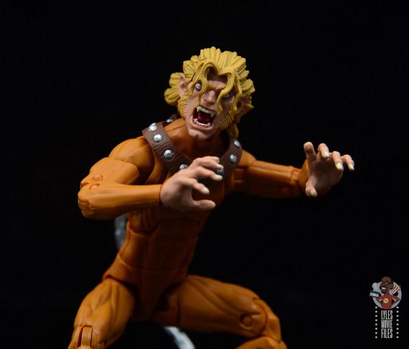 marvel legends wild child figure review - close up