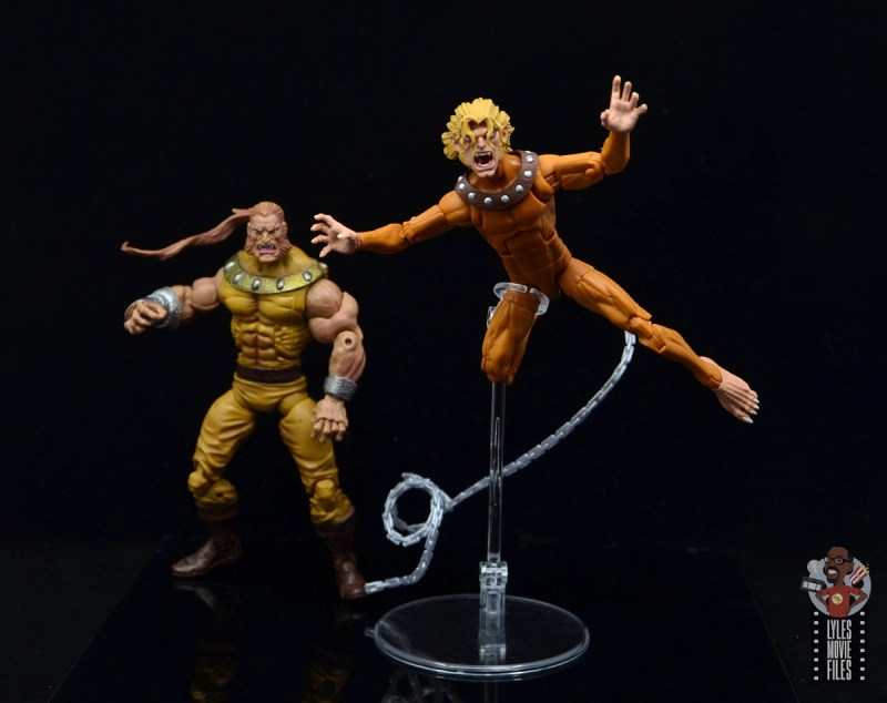 marvel legends wild child figure review - leaping into battle