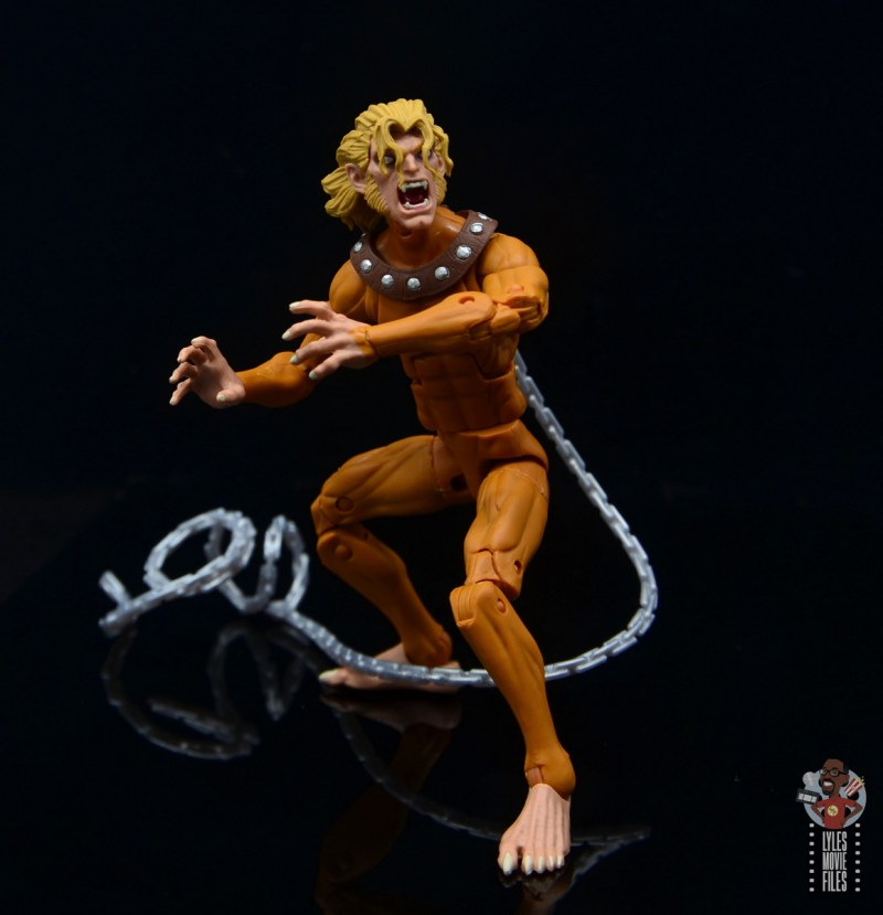 marvel legends wild child figure review - pivoting