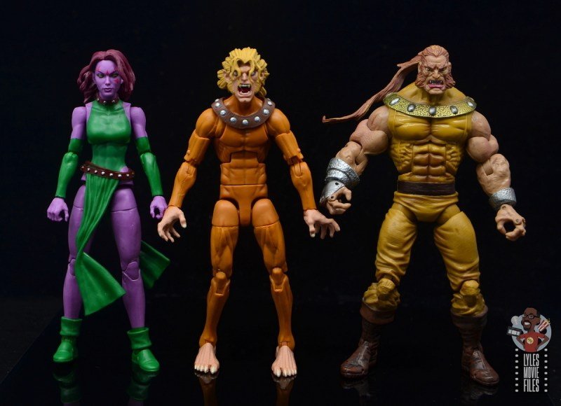marvel legends wild child figure review - scale with blink and toy biz sabretooth