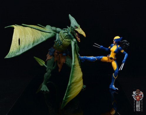 marvel legends wolverine figure review - claw kicking sauron