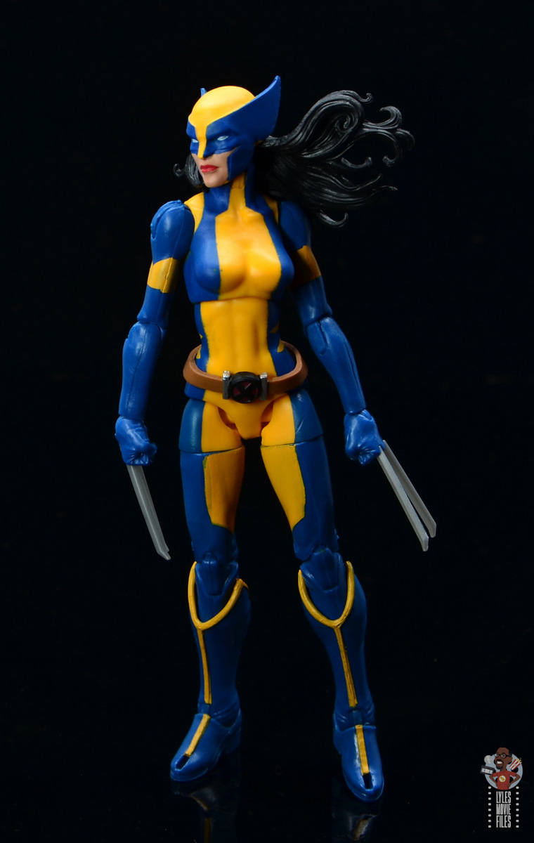 marvel legends wolverine figure review - looking to the side