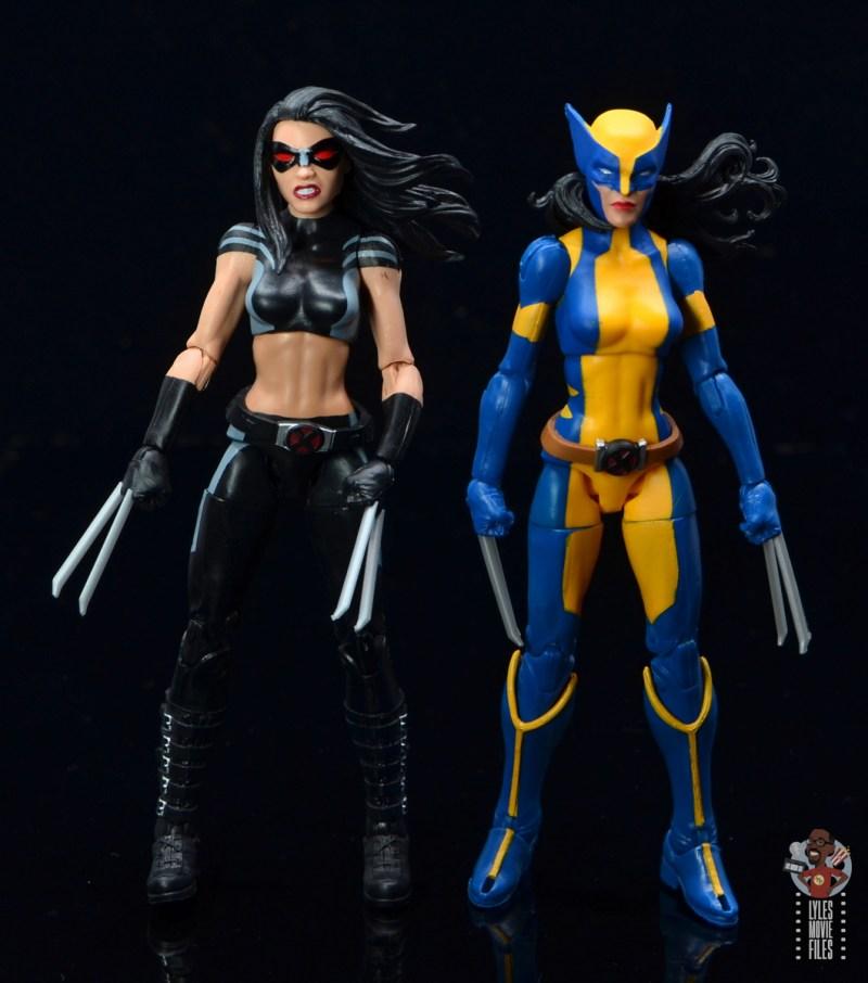 marvel legends wolverine figure review - next to x-23 figure
