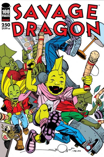 savage dragon #250 - walt simonson cover