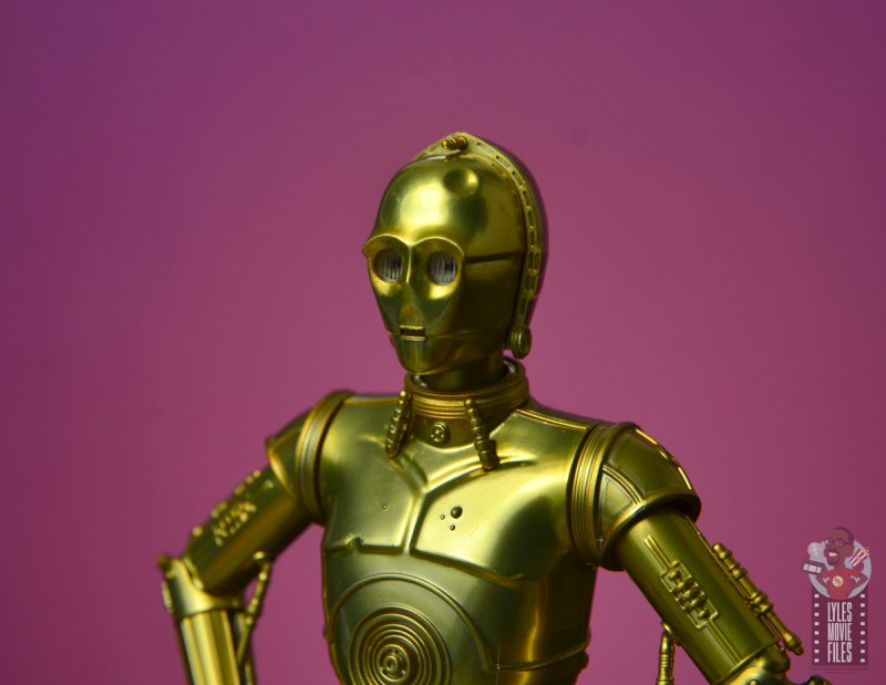 sh figuarts star wars c-3p0 figure review - head with dent