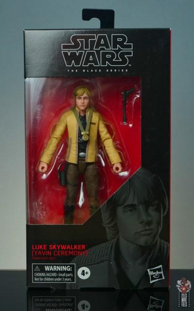 star wars the black series yavin celebration luke skywalker figure review - package front