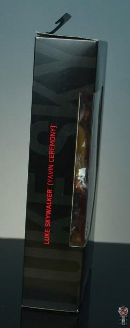 star wars the black series yavin celebration luke skywalker figure review - package right side