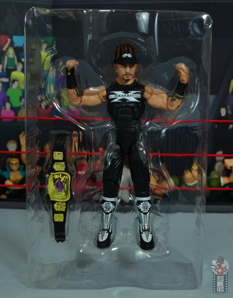 wwe elite hall of champions road dogg figure review - accessories in tray