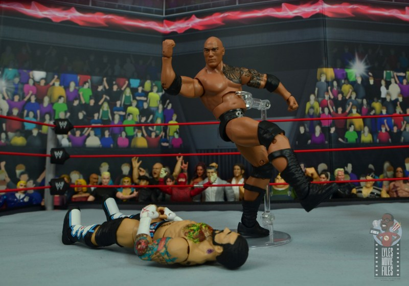 wwe elite royal rumble the rock figure review - people's elbow to cm punk