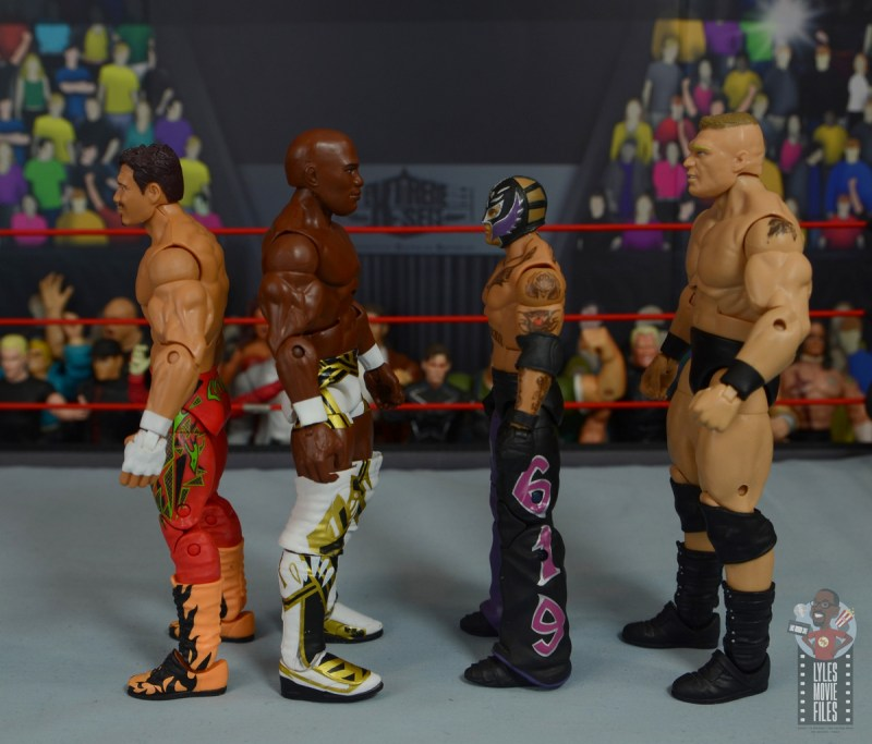 wwe elite shelton benjamin figure review - facing eddie guerrero, rey mysterio and brock lesnar