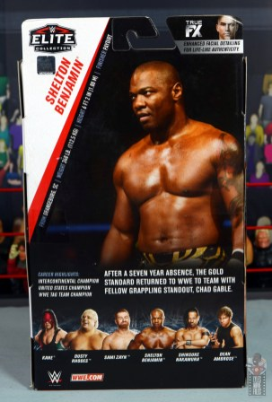 wwe elite shelton benjamin figure review - package rear