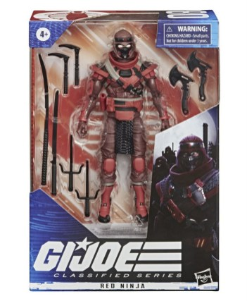 G.I. Joe Classified Series 6-Inch Red Ninja Action Figure - package front