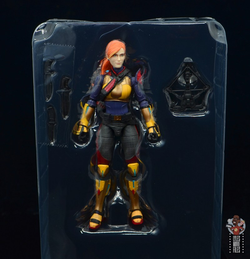 gi joe classified scarlett figure review - accessories in tray