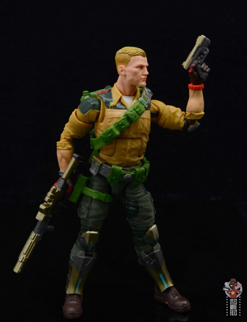 gi joe classified series duke figure review - with both guns
