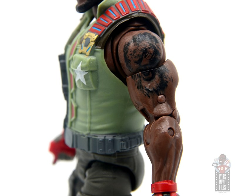 gi joe classified series roadblock figure review - tattoo detail