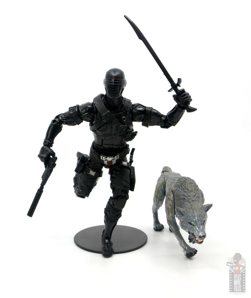 gi joe classified series snake eyes figure review - charging with timber