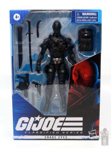 gi joe classified series snake eyes figure review - package front