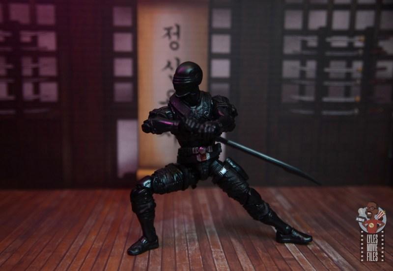 gi joe classified series snake eyes figure review - practicing sword technique