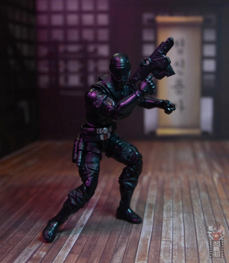 gi joe classified series snake eyes figure review - raising big blaster