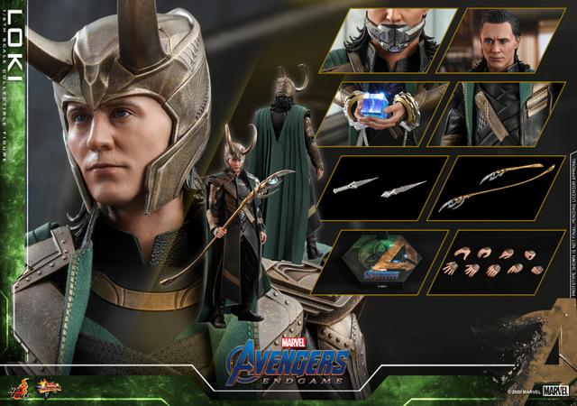 hot toys avengers endgame loki figure - collage